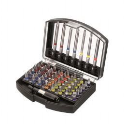 ABS-Box Bit Set mit Schnellwechselhalter 56-teilig
